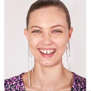 🌈2/$30 New Zara Looping Crystal Drop Earrings